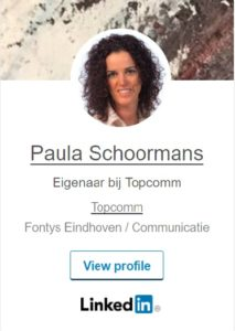 LinkedIn Paula Schoormans